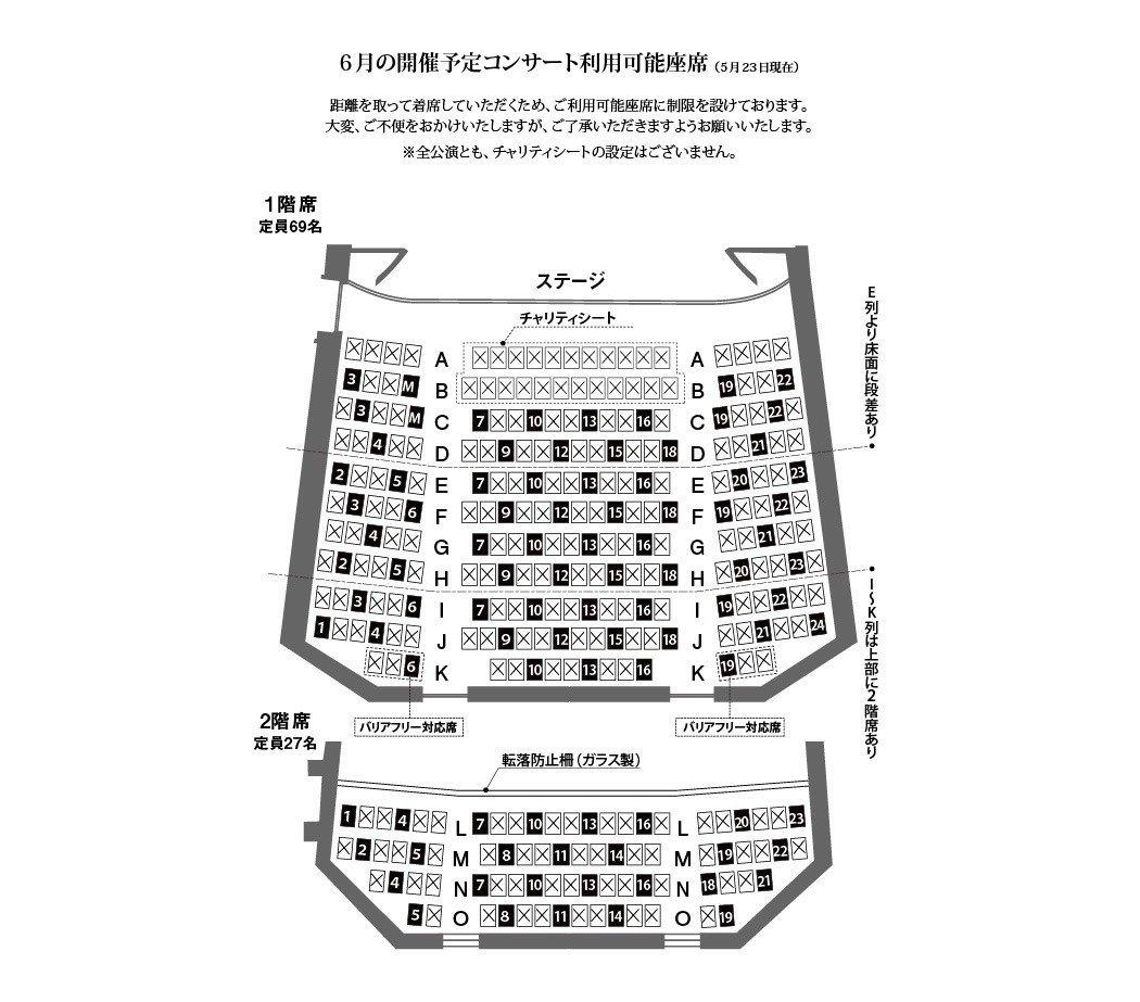 分散着席の場合の座席表